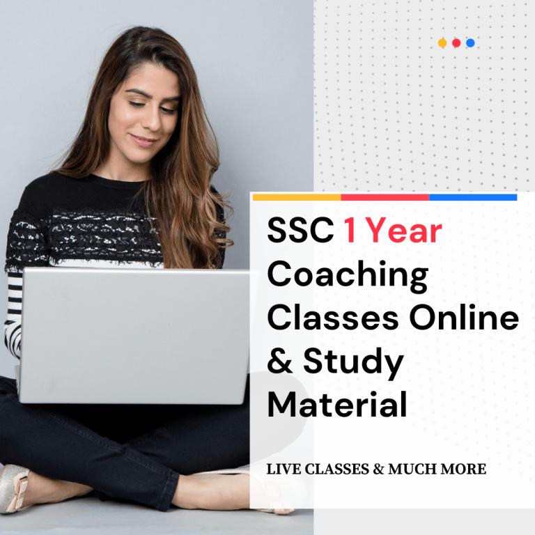 SSC 1 Year Coaching Classes