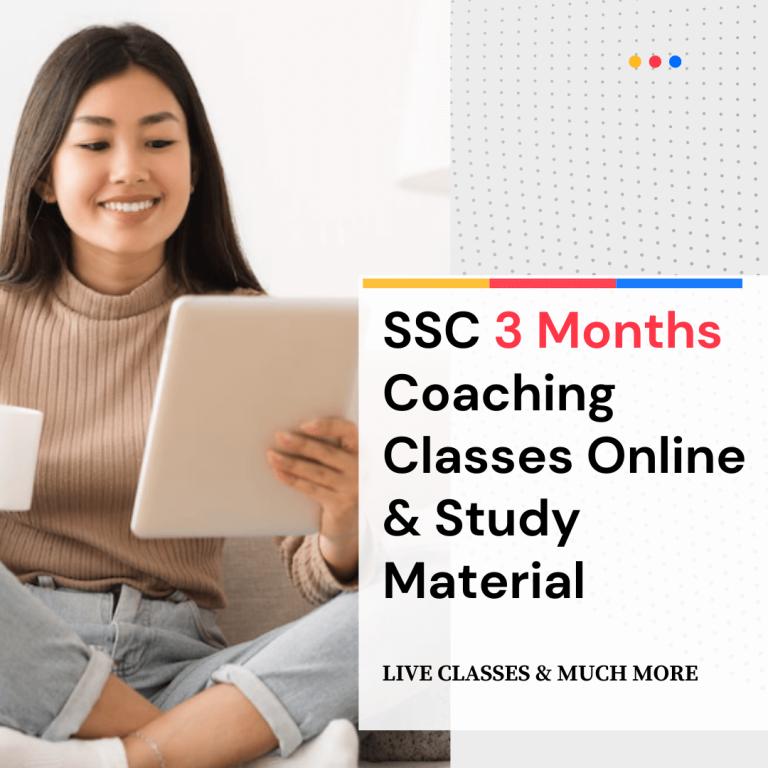 SSC 3 months coaching classes